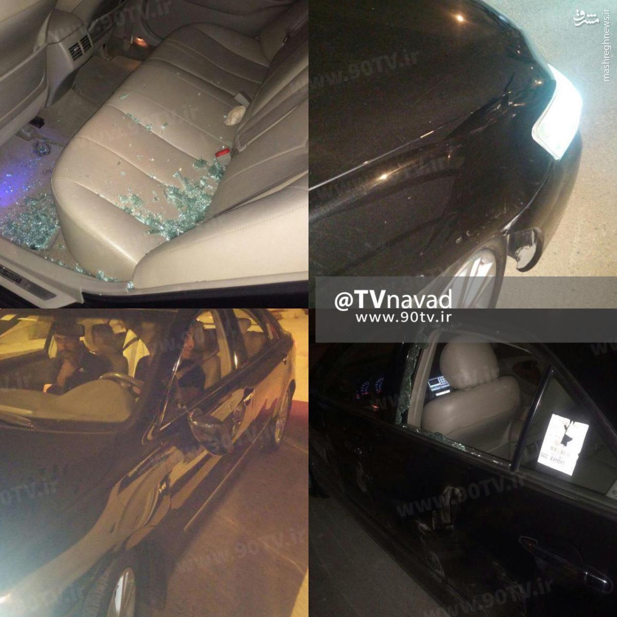 عکس/ حمله به خودرو محسن مسلمان و فرشاد احمدزاده