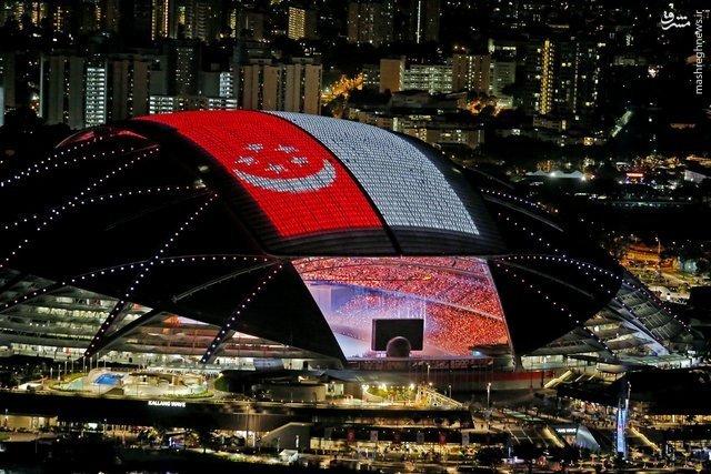 بزرگترین استادیوم گنبدی جهان با سقف الایدی +عکس