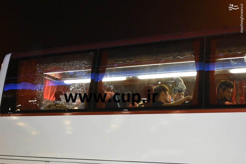 عکس/ انتقال کرهایها با اتوبوس شیشه شکسته