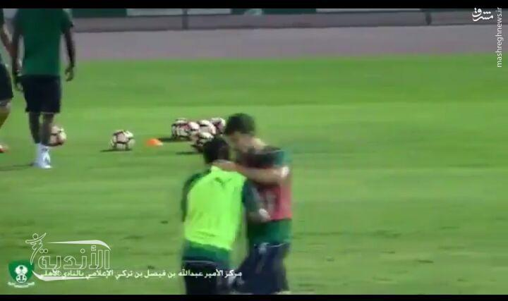 جنگ عربستان و سوریه به زمین فوتبال کشید +عکس
