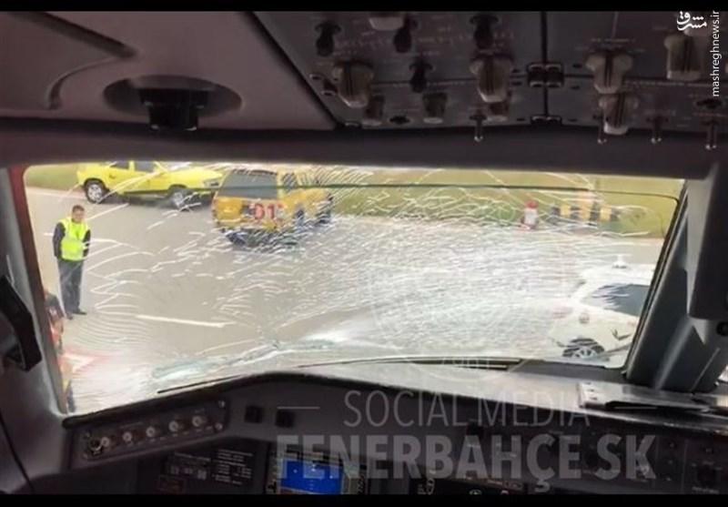 حادثه برای هواپیمای تیم فنرباغچه +عکس