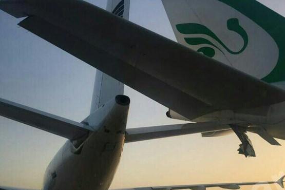 تصادف دو هواپیما در فرودگاه امام خمینی +عکس