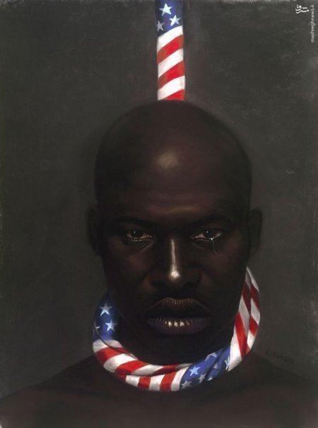 زانو زدم تا دنیا بفهمد که سیاهان حق اعتراض دارند+تصاویر