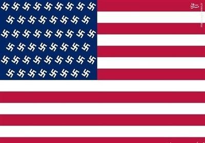 عکس/ پرچم جدید آمریکا بعد از انتخابات