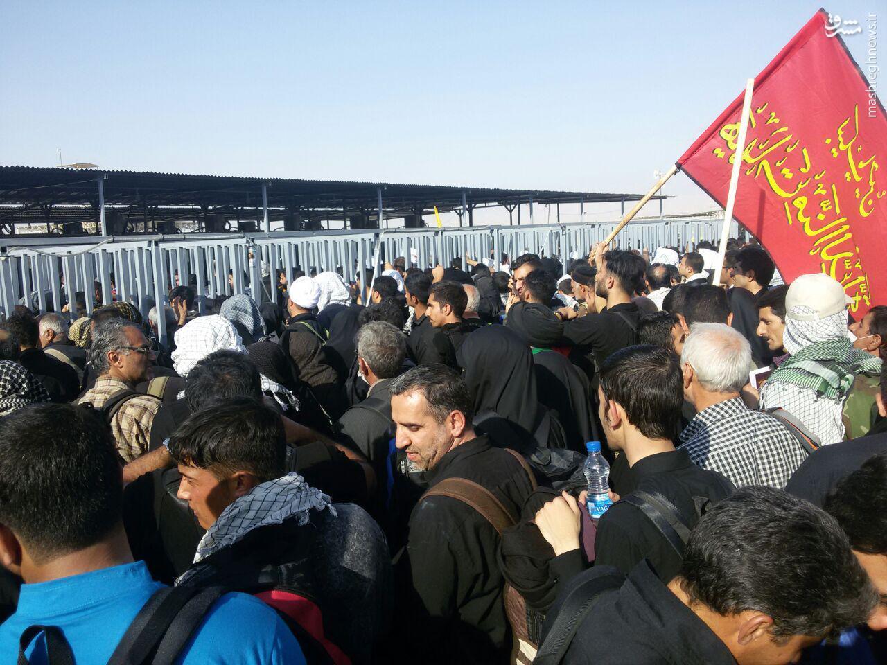 عکس اربعین در مرز مهران