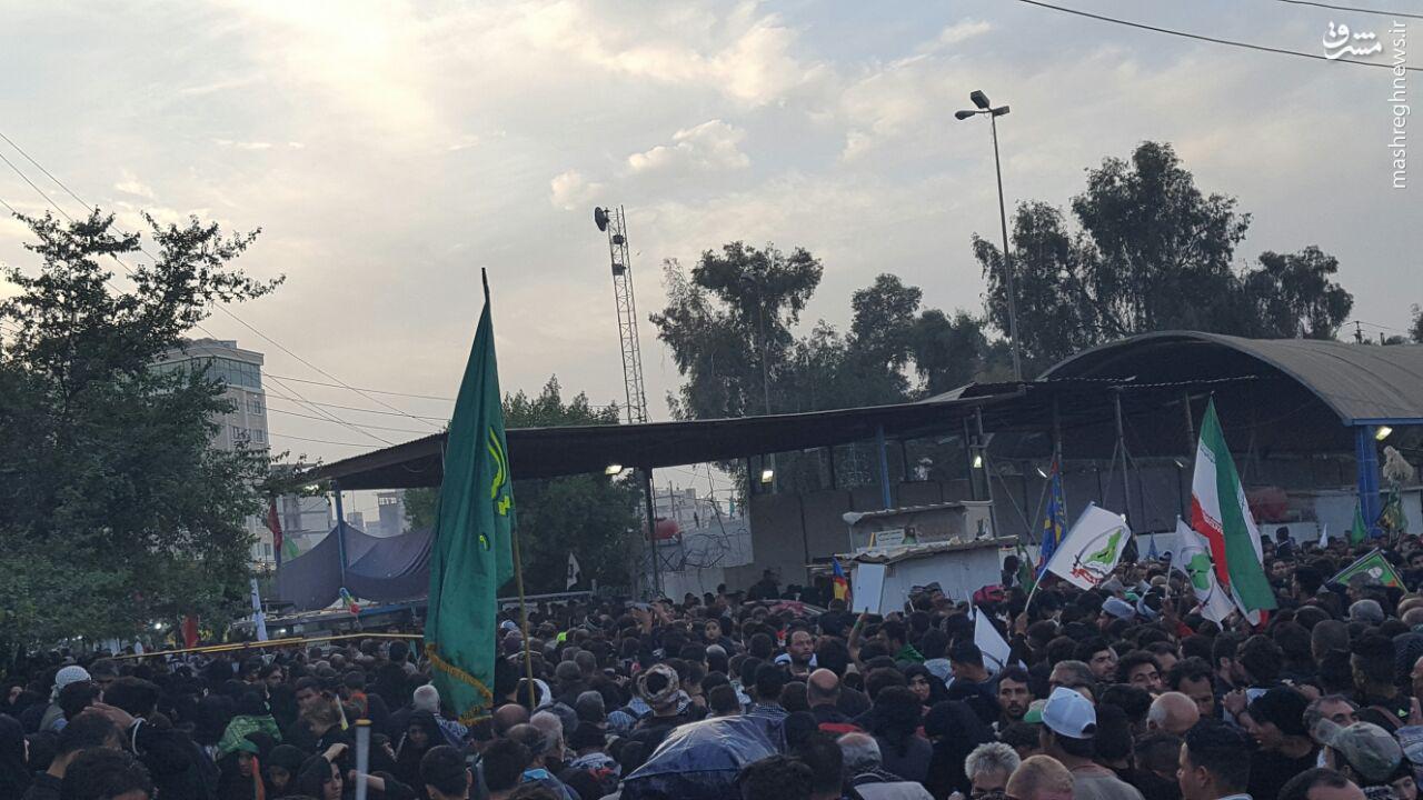 عکس/ ازدحام در ورودی های محدوده حرمین کربلا