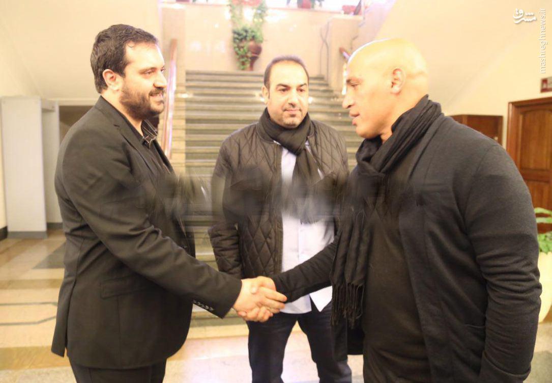 عکس/ فرزند زندهیاد پورحیدری همراه با آبیها