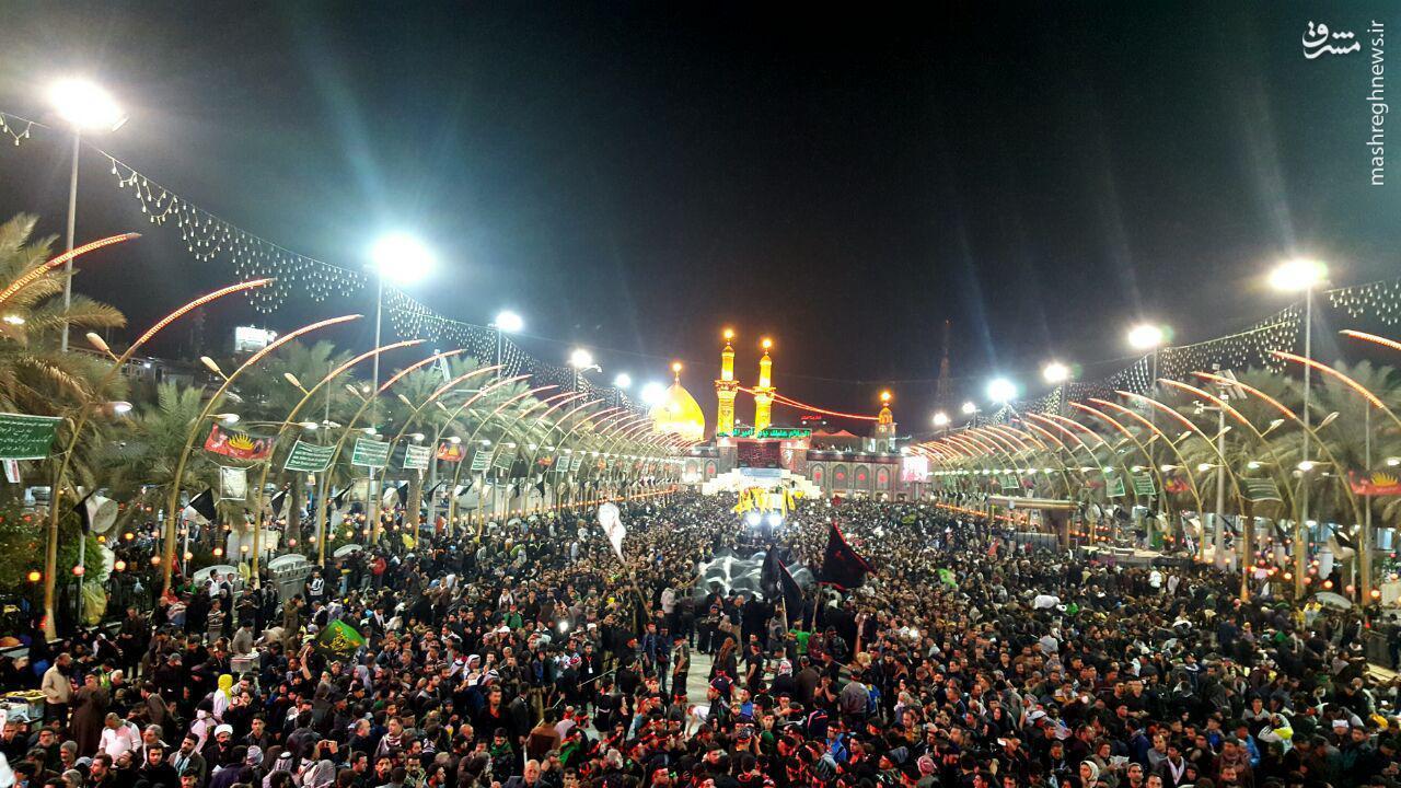 عکس/ بین الحرمین در شب اربعین حسینی