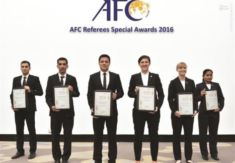 عکس/ جایزه ویژه AFC برای فغانی، سخندان و منصوری