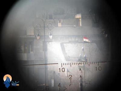 مناطق تحت کنترل ارتش سوریه از دید دوربین یک تروریست-حلب