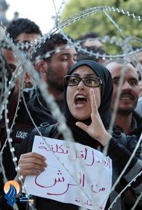 تظاهرات ضد دولتی در شهر سیلانا در تونس