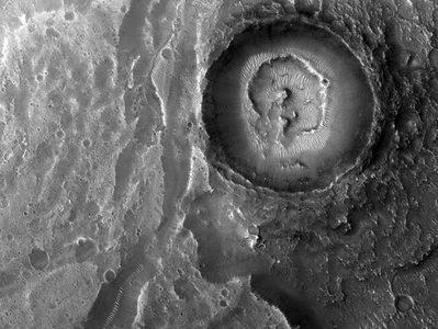 گودالی در سیاره مریخ