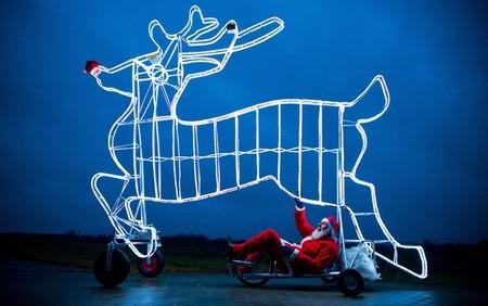 طراحی یک دوچرخه در آلمان به شکل گوزن سورتمه بابا نوئل – 29 نوامبر 2012