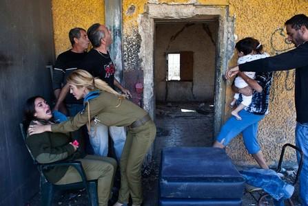 وحشت نظامیان صهونیست از راکتهای شلیک شده از طرف فلسطینی ها – 15 نوامبر 2012