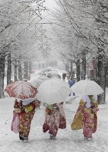 بارش شدید برف در توکیو -ژاپن