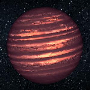 تصویر تلسکوب هابل از جو طوفانی سیاره(کوتوله ای) 2MASSJ22282889-431026