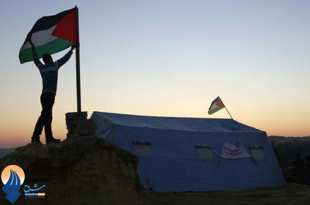 راه اندازی اردوگاه اعتراضی در رام الله علیه ساخت و ساز مجدد  اشغالگران در اراضی فلسطین