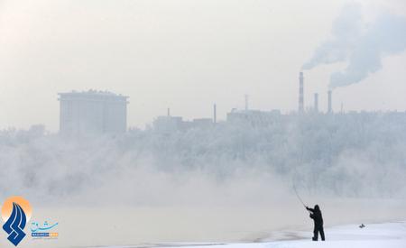 ماهیگیری در سرمای منفی 14درجه در مسکو ـ روسیه