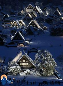 چهره ی زمستانی خانه های سنتی ژاپن