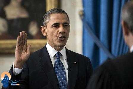 سوگند اوباما برای دور دوم ریاست جمهوری آمریکا ـ کاخ سفید
