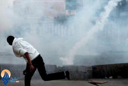 درگیری جوانان بحرینی با پلیس ضدشورش در روستای مالکیا _ بحرین