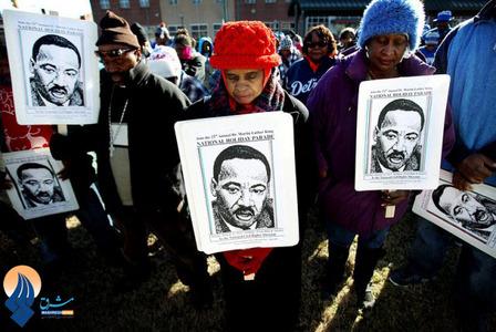 گرامیداشت سالروز تولد مارتین لوترکینگ رهبر جنبش حقوق مدنی سیاه پوستان در آمریکا
