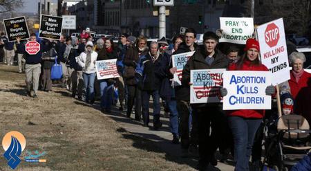 راهپیمایی علیه قانون سقط جنین _ واشنگتن