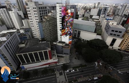نقاشی های دیواری فریبنده در سائوپالو _ برزیل