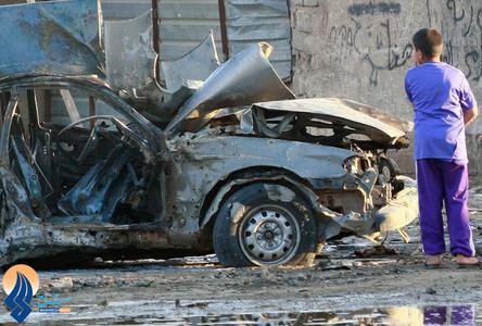 انفجار یک خودروی بمب گذاری شده در بغداد