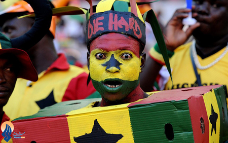 تماشاگران تیم ملی غنا در جام ملتهای آفریقا