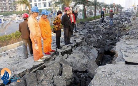انفجار خط لوله گاز در یکی از خیابانهای گوانگژو ـ چین