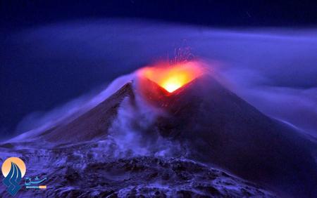 فوران آتشفان اتنا در جزایر سیسیل ـ ایتالیا