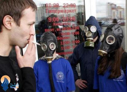 ارشاد گروهی از جوانان به افراد سیگاری برای ترک سیگار ـ روسیه