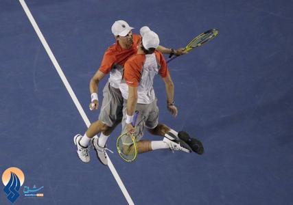 پیروزی تیم مردان آمریکا مقابل هلند در تنیس اوپن استرالیا
