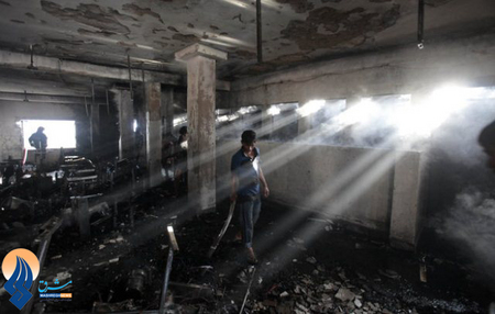آتش سوزی در یک کارخانه تولید پوشاک _ بنگلادش