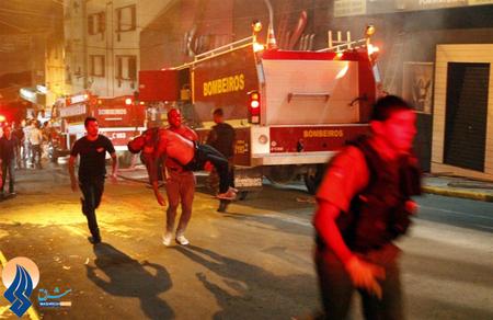 بیش از 350 تن کشته و زخمی در آتش سوزی یک مرکز تفریحی در شهر سانتاماریا ـ برزیل