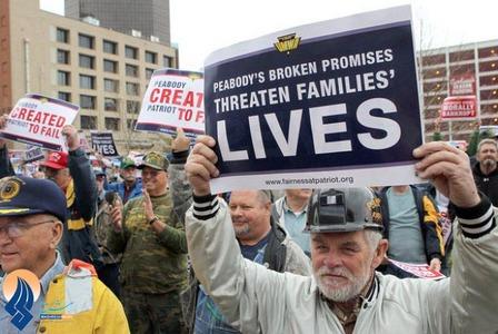 تضاهرات بازنشستگان بدلیل کاهش خدمات درمانی مقابل دادگاه فدرال ـ آمریکا