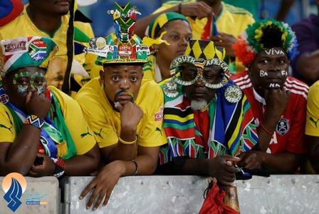 تماشاگران تیم ملی آفریقای جنوبی در جام ملت های آفریقا