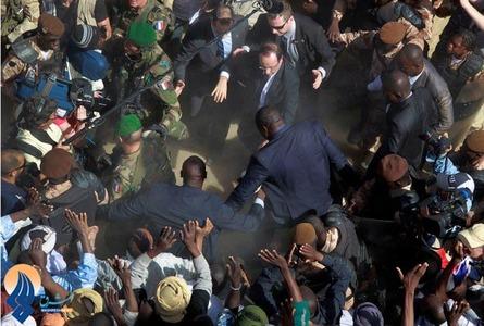 سفر اولاند رئیس جمهوری فرانسه به مالی
