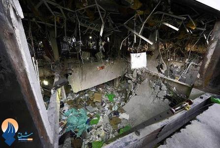 نمایی از ساختمان منفجر شده شرکت ملی نفت مکزیک