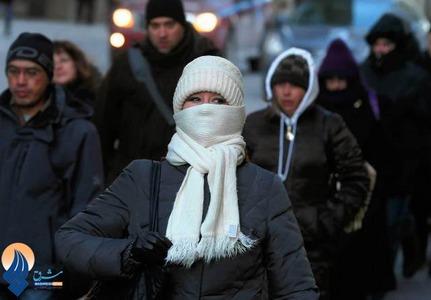 سرمای شدید در شیکاگوی آمریکا