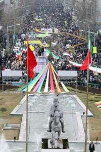 راهپیمایی یوم الله 22 بهمن در رشت