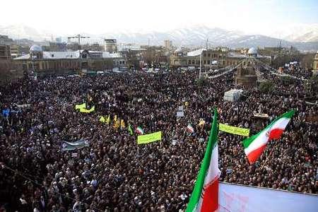 راهپیمایی یوم الله 22 بهمن در همدان