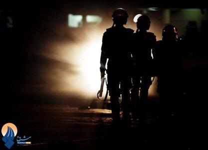 گشت زنی سربازان ضد شورش آل خلیفه در خیابانهای ابوسیبا _ بحرین