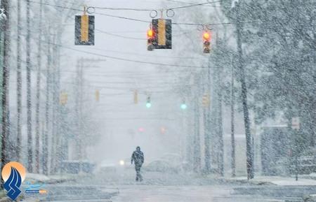 بارش شدید برف و کولاک _ واشنگتن