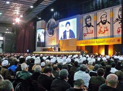 سخنرانی سید حسن نصراللهˈ دبیر کل حزب الله لبنان،درمراسم بزرگداشت سرداران شهید مقاومت، در مجتمع سید الشهداء (ع) در ضاحیه جنوبی بیروت.