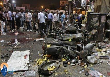 11کشته و 50زخمی براثر انفجار 2بمب در بازار شهر حیدرآباد _ هند