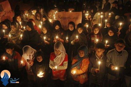 مراسم یادبود کشته شدگان انفجار شهر کویته _ پاکستان