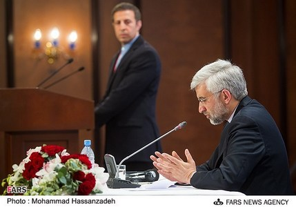 کنفرانس خبری سعید جلیلی دبیر شورای عالی امنیت ملی ایران پس از مذاکرات 1+5 در آلماتی قزاقستان