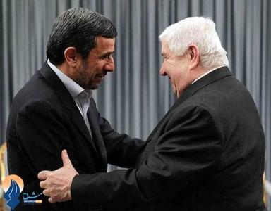 دیدار احمدی نژاد و وزیر امور خارجه سوریه - تهران